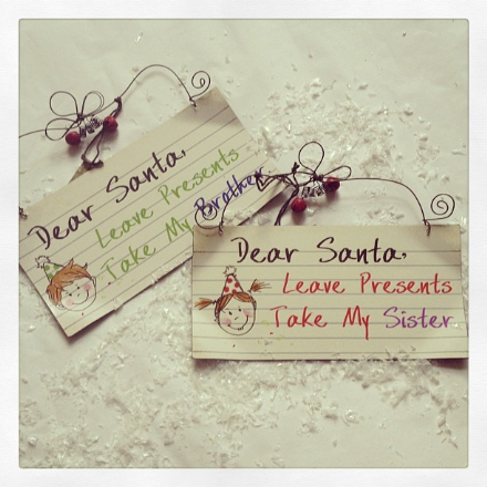 50% OFF - Dear Santa..take my brother..sister